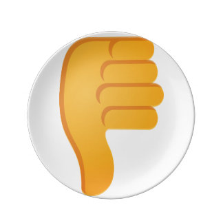Thumbs Down Emoji Porcelain Plates