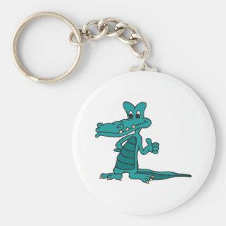 thumbs up alligator key ring