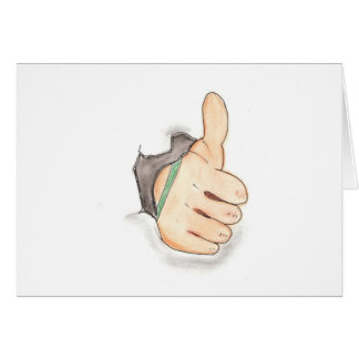 Thumbs up card