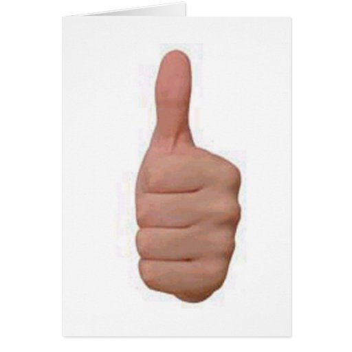 Thumbs up! cards
