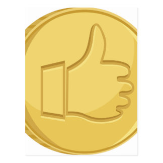 Thumbs Up Coin Postcard