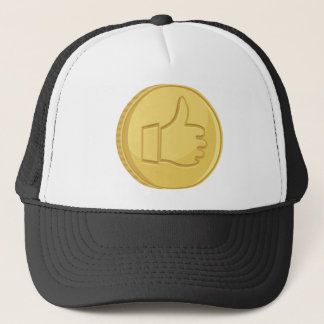 Thumbs Up Coin Trucker Hat