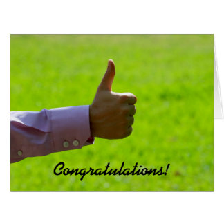 Thumbs Up, Congratulations, Big Greeting Card