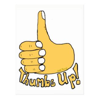 Thumbs Up Congratulations Cartoon Postcard