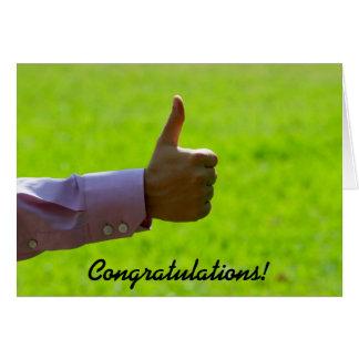 Thumbs Up, Congratulations, Greeting Card