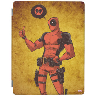 Thumbs Up Deadpool With Emote iPad Cover