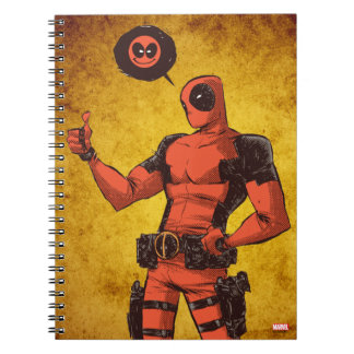 Thumbs Up Deadpool With Emote Spiral Notebook