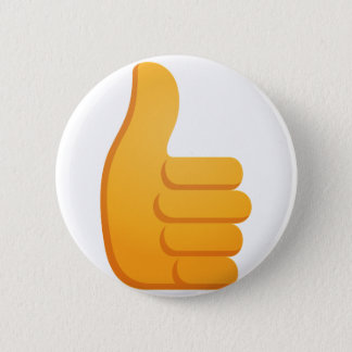 Thumbs Up Emoji 6 Cm Round Badge