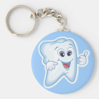 Thumbs up for dental hygiene! key ring