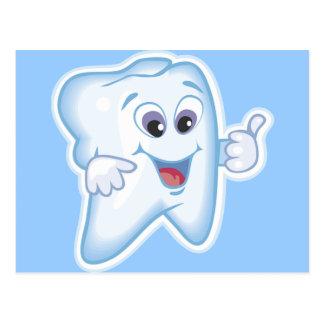Thumbs up for dental hygiene! postcard