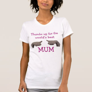Thumbs up for the world s best mum tshirt