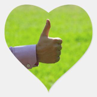 Thumbs Up Heart Sticker