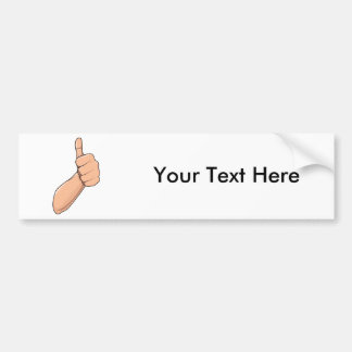 Thumbs Up / Hitchhiking Hand Sign Gesture 3 Bumper Sticker