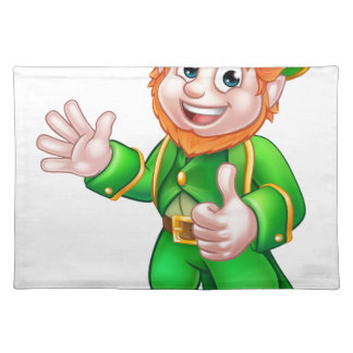 Thumbs Up Leprechaun St Patricks Day Character Placemat