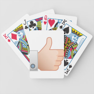 Thumbs Up Like Bicycle Playing Cards