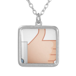 Thumbs Up Like Silver Plated Necklace