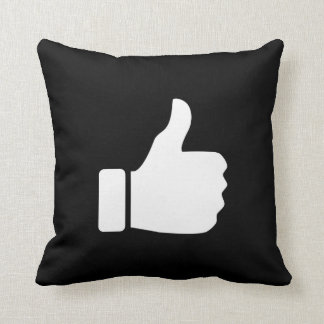 Thumbs Up Pictogram Throw Pillow Throw Cushions