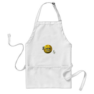 Thumbs Up Smiley Face character Standard Apron