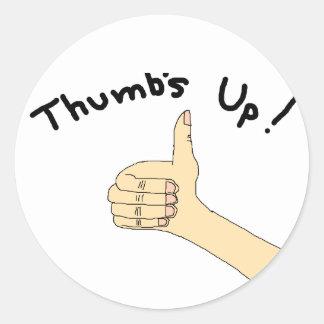 Thumbs up sticker