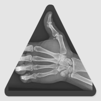 Thumbs up triangle sticker
