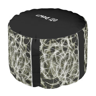 Thump black and white for decoration pouf