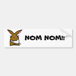 Thumper Doodle Nom Nom Car Sticker Bumper Sticker