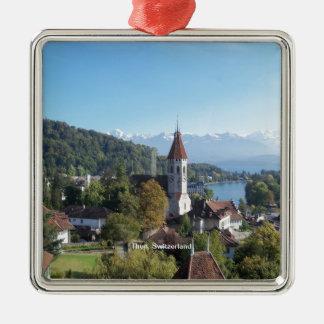 Thun, Switzerland landscape Metal Ornament