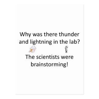 Thunder and Lightning Joke Postcard