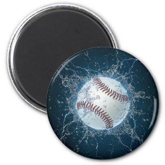 Thunder Baseball 6 Cm Round Magnet