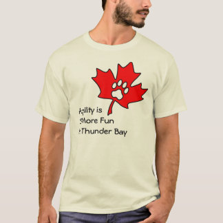Thunder Bay Agility - blank back T-Shirt