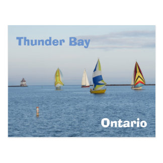 Thunder Bay - boats Postcard
