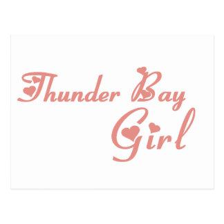 Thunder Bay Girl Postcard