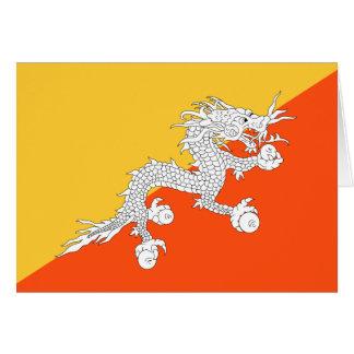 Thunder Dragon Flag of Bhutan Card
