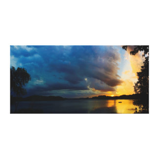 """Thunder Sun     34""""x17"""" Canvas Print"""