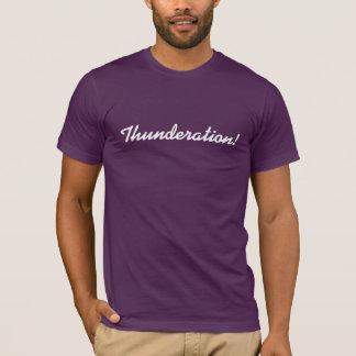 Thunderation! cursive white text on purple T-Shirt