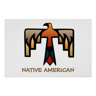 Thunderbird - Native American Indian Symbol Poster