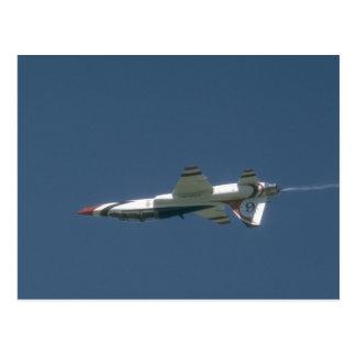 Thunderbird T-38 Jet Upside Down Postcard