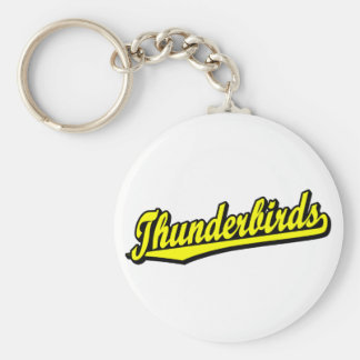 Thunderbirds in Yellow Basic Round Button Key Ring