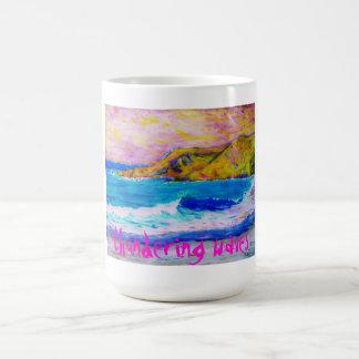 thundering waves basic white mug