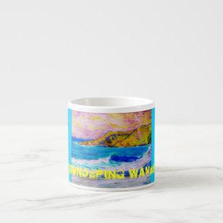 thundering waves espresso mug