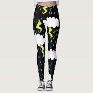 Thunderstorm Lightning strikes Leggings