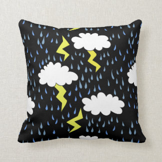 Thunderstorm Lightning strikes Throw Pillow