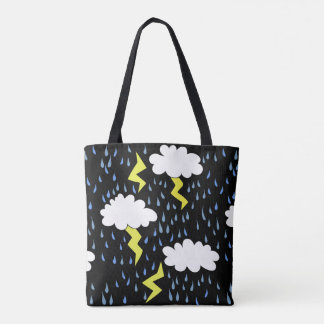 Thunderstorm Lightning strikes Tote Bag