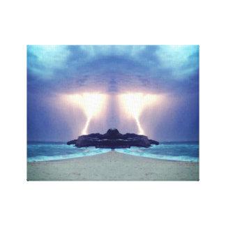 Thunderstorm on the Beach Unique Artwork Canvas Print