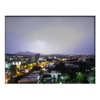 Thunderstorm over Thessaloniki, Greece Postcard