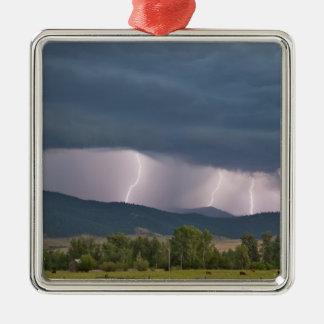 Thunderstorm produced lightning in the Jocko Metal Ornament
