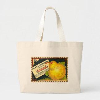 Thurber Pears Vintage Crate Label Jumbo Tote Bag
