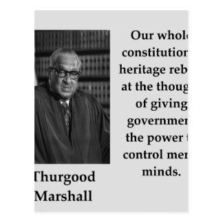 Thurgood Marshall quote Postcard