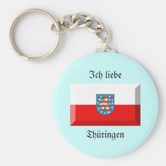 Thuringen Flag Gem Keychains