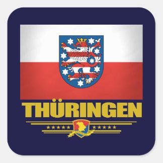 Thuringen (Thuringia) Flag Square Sticker